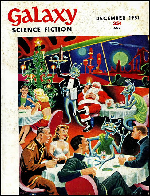 Galaxy Magazine - January 1951 - cover by Ed Emishwiller