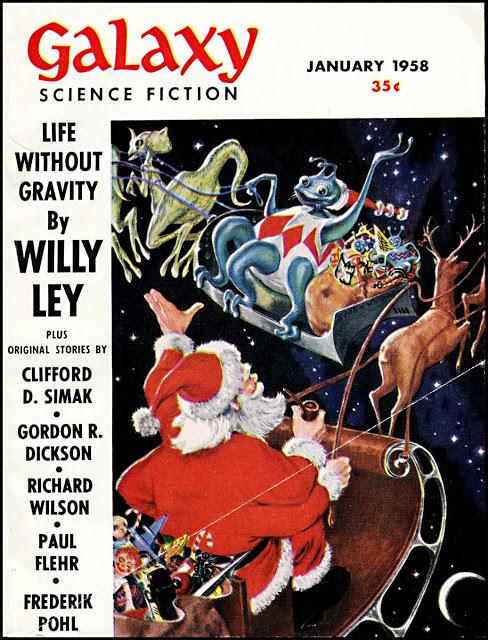 Galaxy Magazine - January 1958 - cover by Ed Emishwiller