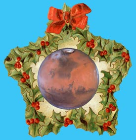A Martian Christmas decoration.