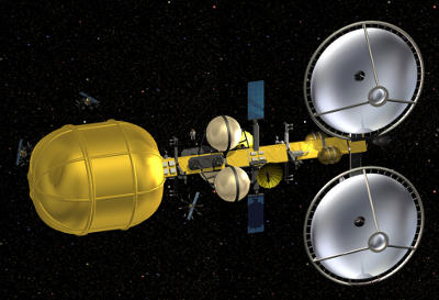 conceptual design for an asteroid mining spacecraft