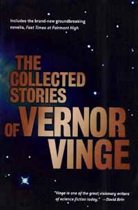 The Collected Stories of Vernor Vinge - Cover  Copyright © 2001 by TOR books.