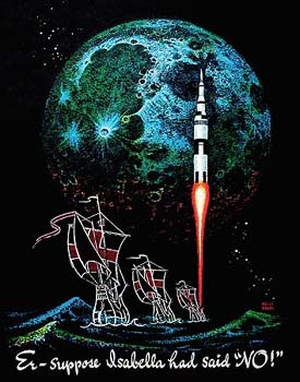 A NASA poster done by Kelly. Copyright © Kelly Freas All Rights Reserved.