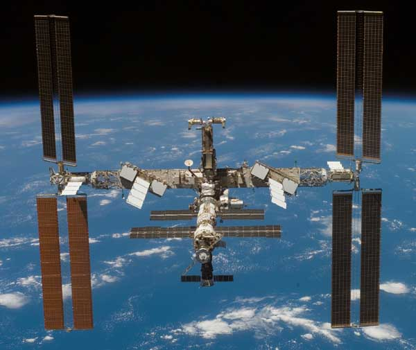 The ISS. Image credit NASA.
