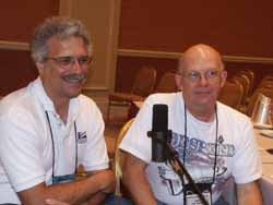 Jack Hagerty and Jon C. Rogers during their Hour 25 interview.  Picture Copyright © 2002 by Suzanne Gibson.  All Rights Reserved.