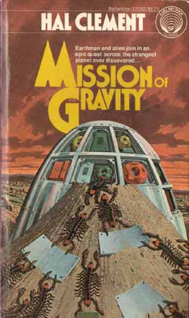 Cover for Mission of Gravity.  Cover illustration by H.R. Van Dongen.