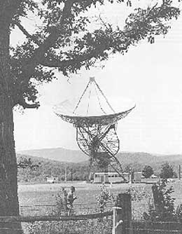 The Project OZMA radio telescope.