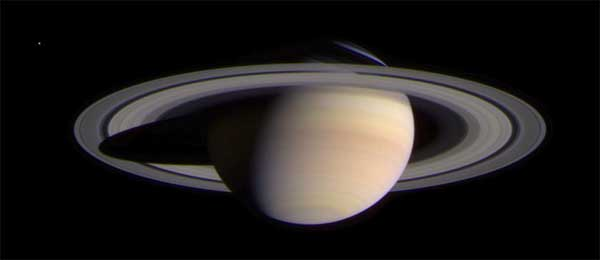 Saturn, color. Image credit NASA/JPL.