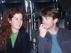 Carolyn Palmer and Josh Thoemke at the Hour 25 taping. Copyright ©2003 by Suzanne Gibson