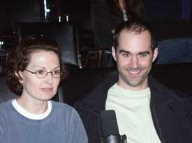 Rebecca Marcotte and Matthew Fahey at the Hour 25 taping. Copyright ©2003 by Suzanne Gibson