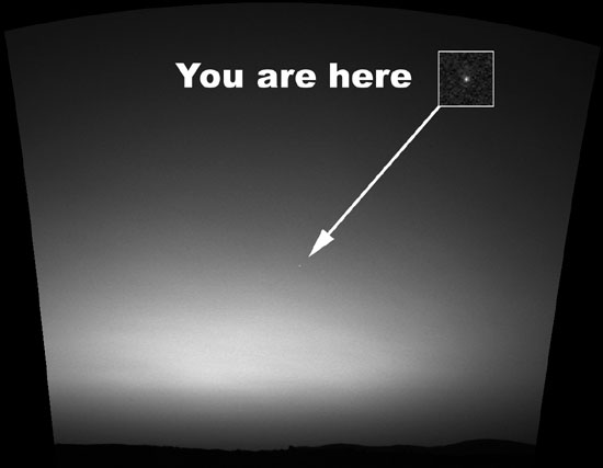 You are here.   Image credit NASA/JPL.