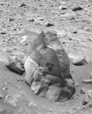 Rock markings.   Image credit NASA/JPL.