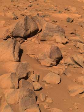 Rocks - color.  Image credit NASA/JPL.