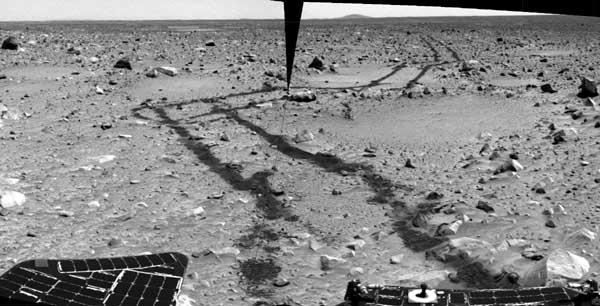The road behind.   Image credit NASA/JPL.