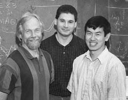 John Slough, Tim Ziemba, and Robert Winglee. Picture reproduced from the UW College of Arts and Sciences Newsletter.